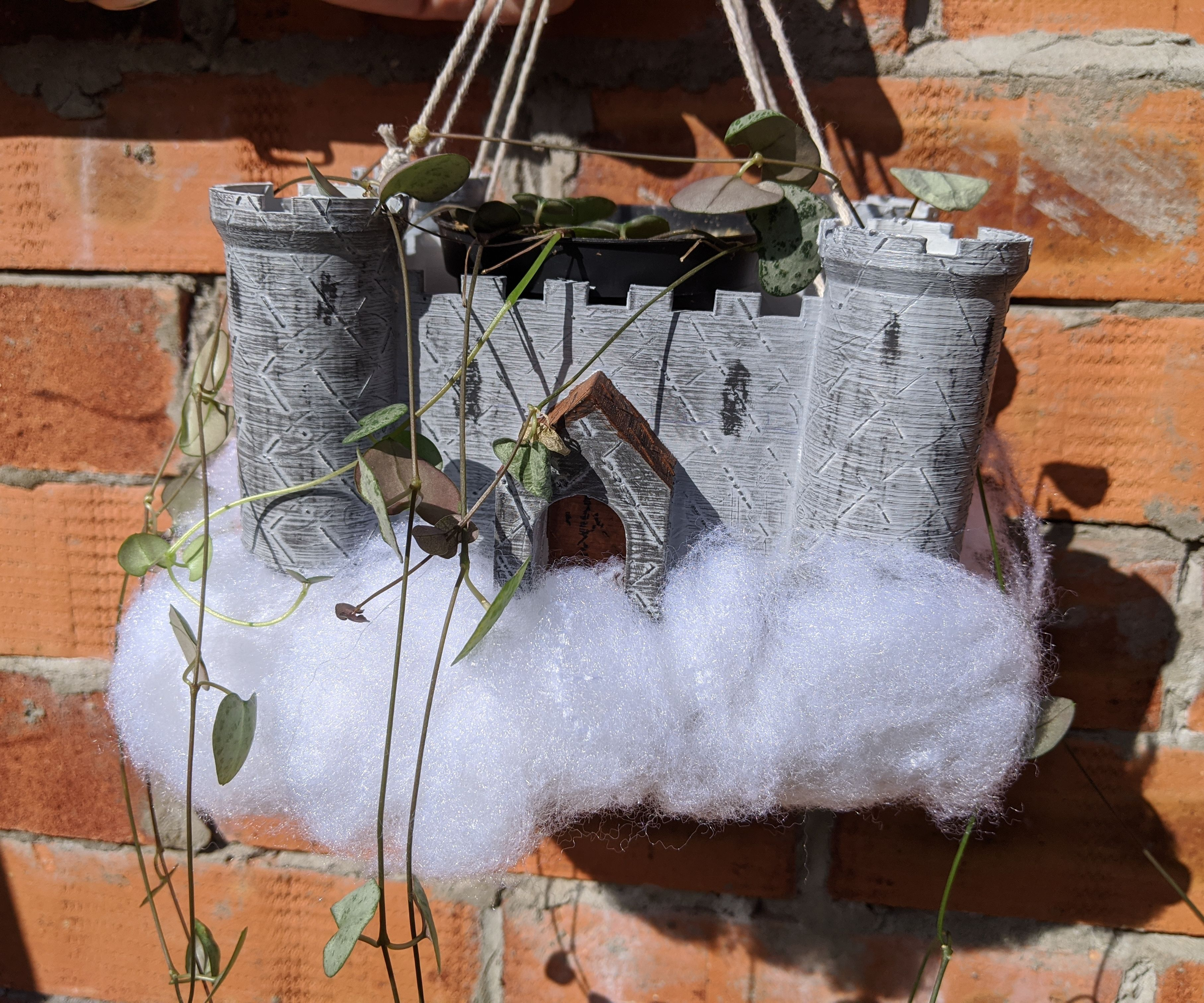 Castle in the Clouds Plant Pot