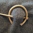 Brass Penannular Brooch/ Viking Cloak Pin