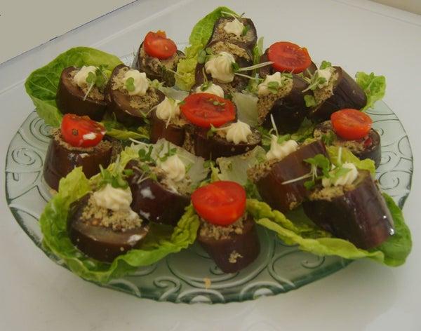 Aubergines (eggplants) With Walnut Paste Stuffing