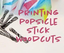 Making Art With Icecream Sticks