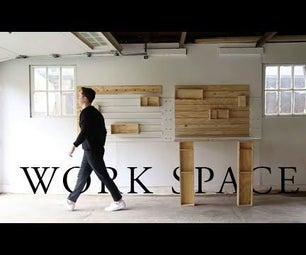 Flat Pack Garage Work Table