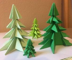 Kirigami Christmas Tree in Green