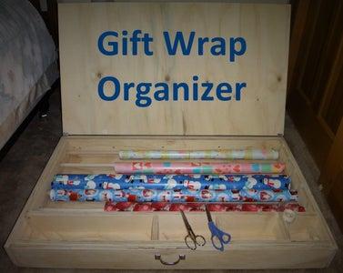 Gift Wrap Organizer (Plywood)