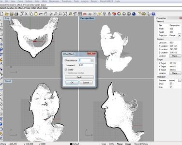 Offset the Mesh in Rhino to Add Thickness