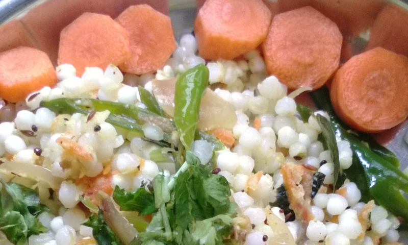 Sago Pearls Upma-An energy break fast