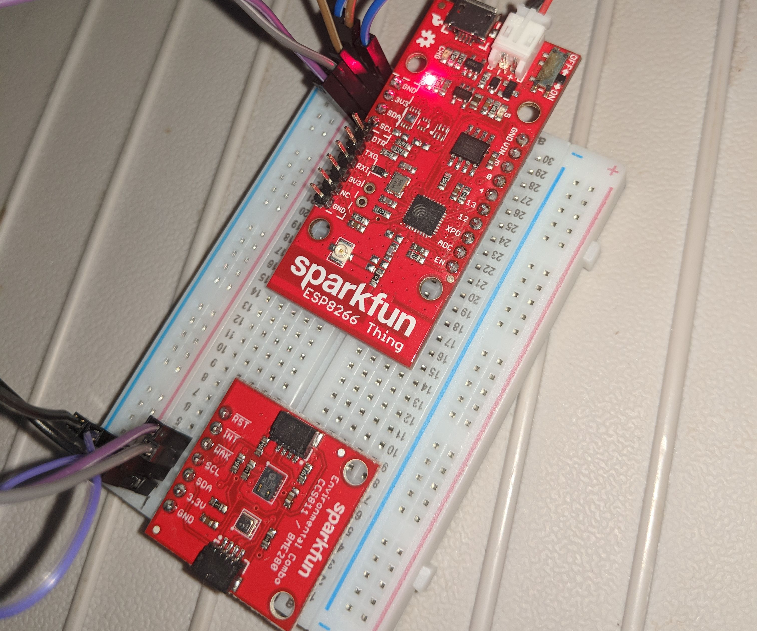 SparkFun ESP8266 Thing With CCS811and BME280, I2C Timing Issue Setting of Watchdog WDT