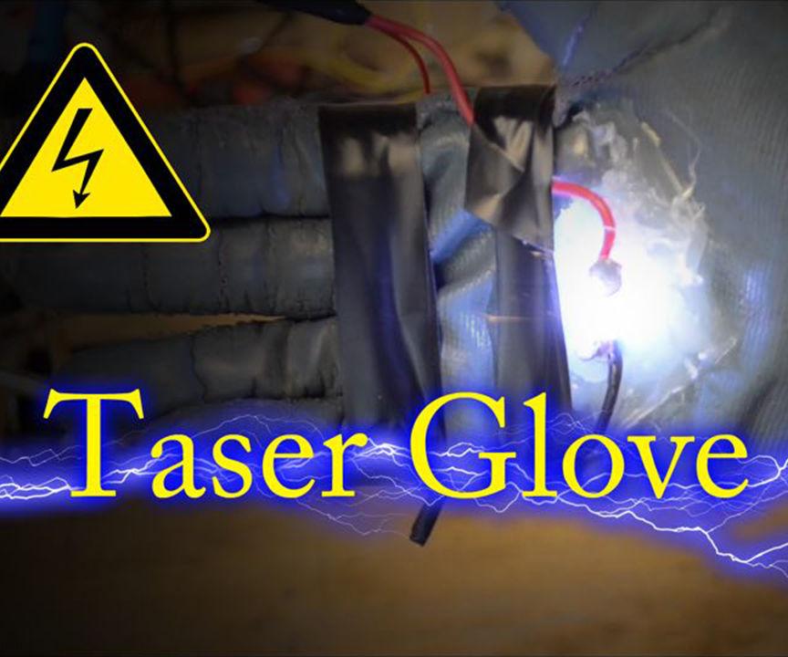 How To Make Taser Glove For Under 5$ ! (DIY Taser Glove)