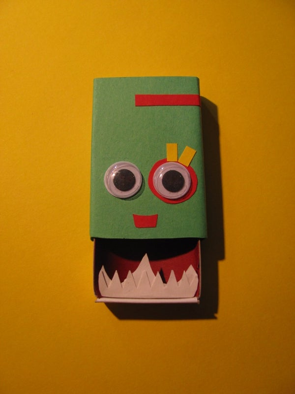 Anxiety Eating Monster Matchbox