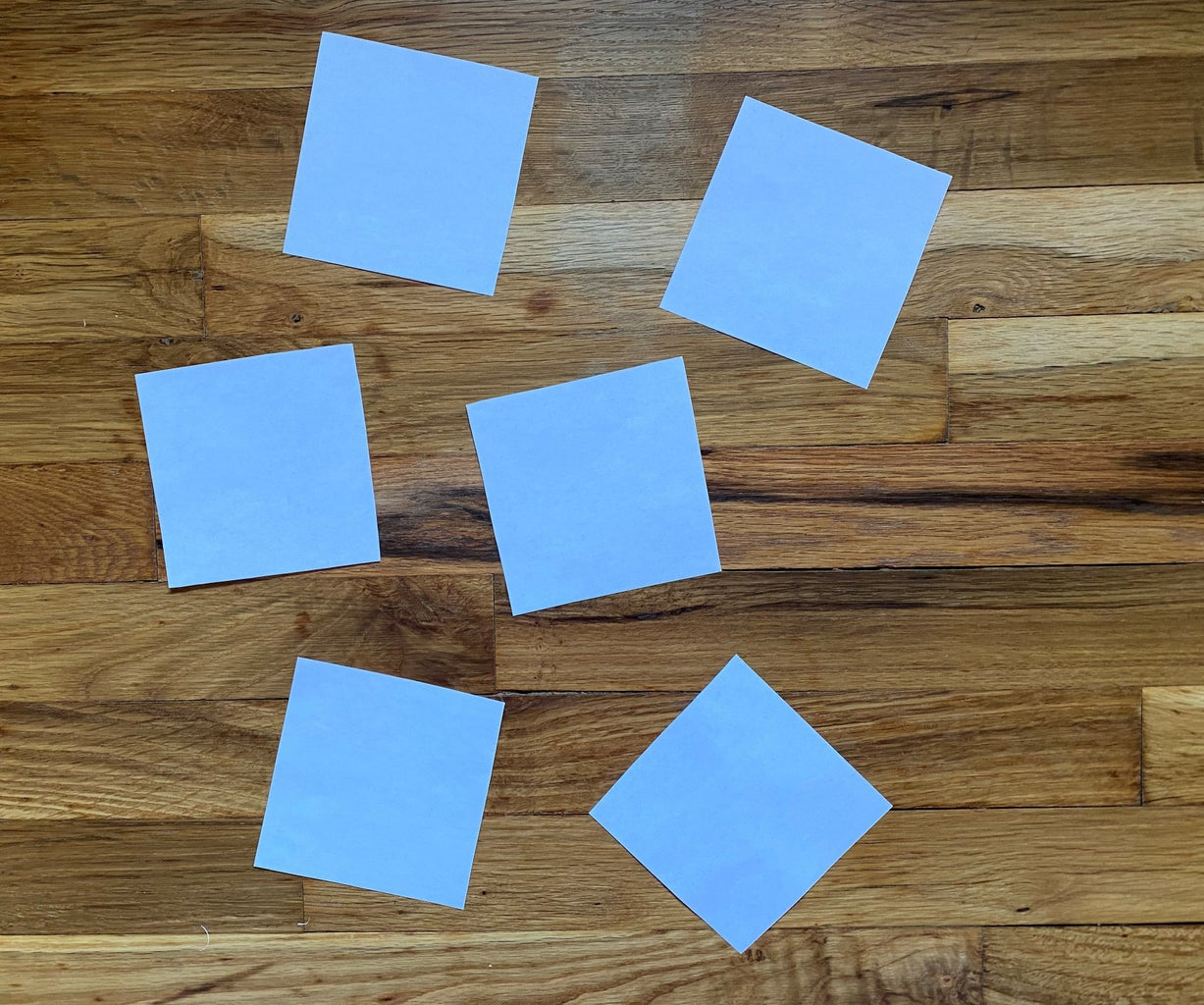 Cut Out Six Squares of the Same Size.