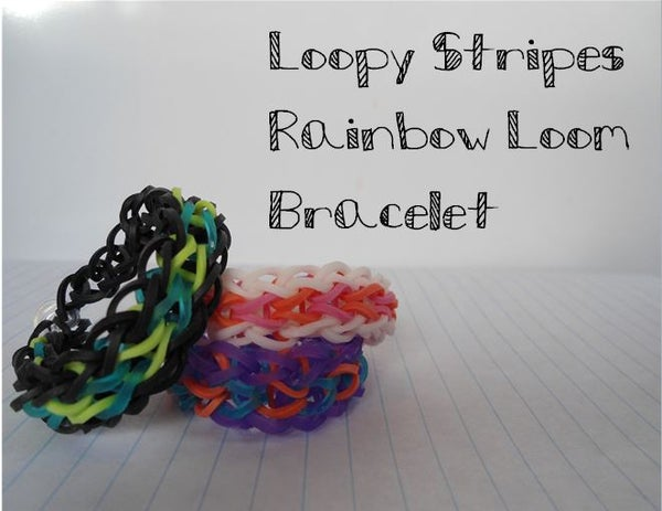 Loopy Stripes Rainbow Loom Bracelet