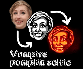 Carve a Vampire Pumpkin Selfie