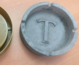 Reinforced Cement Ash Tray W/ 3D Printed Mold
