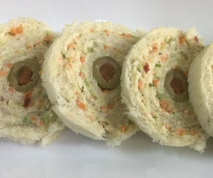 Vegetable Pinwheel Sandwiches