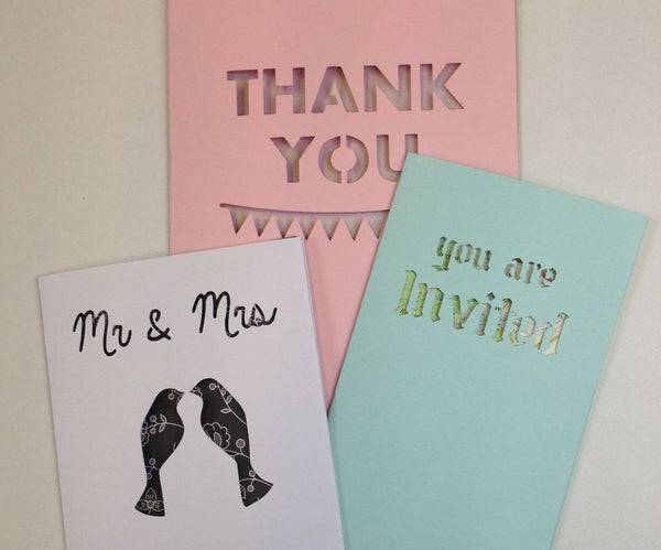 Text Window Greeting Cards