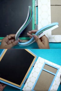 Let's Cover the Slate Using the Quilling Strips!