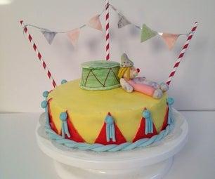 Lemon Poppy Seeds Cake (Clown Cake)