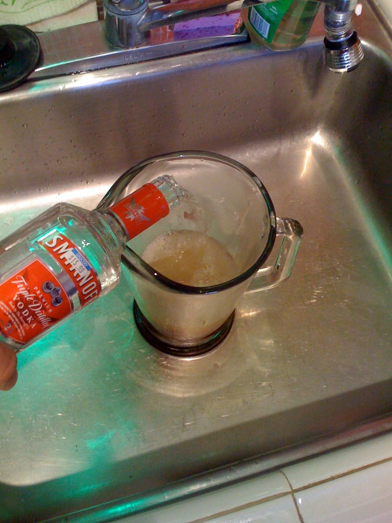 Mix in the Vodka