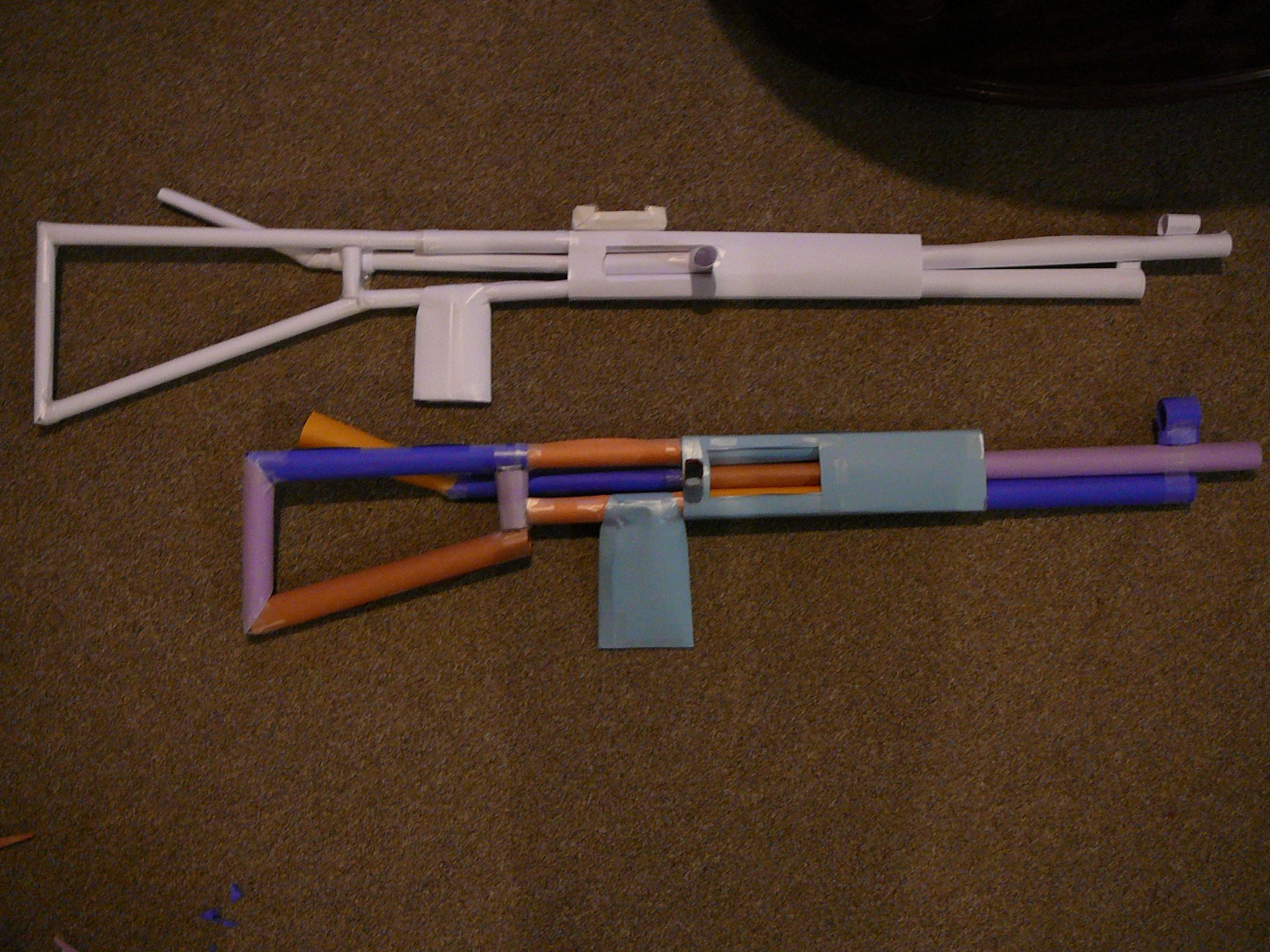 how to make a paper machine gun by undermig