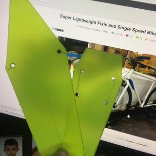 Super Lightweight Fixie and Single Speed Bike Mudguards