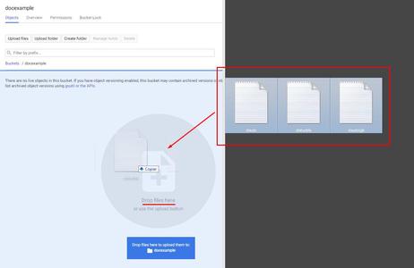 Google Cloud Storage - Upload Files: