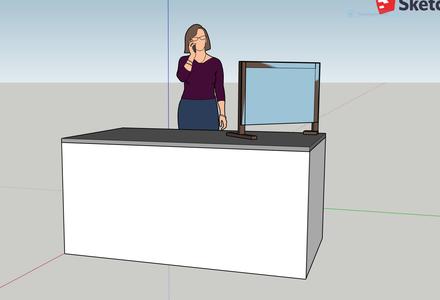 DIY Teacher Desk Shield for Writing Conferences
