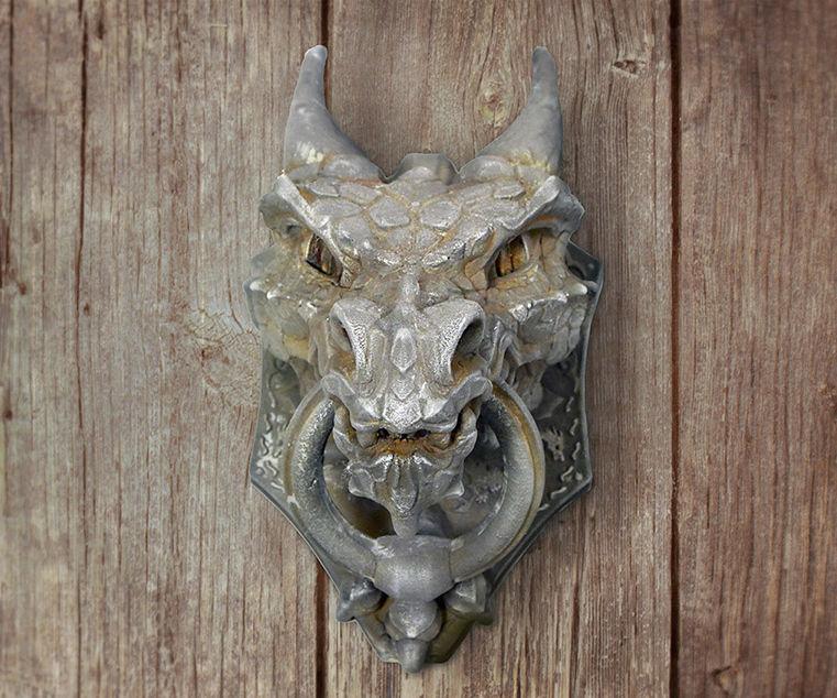Dragon knocker 3d printed - Iron Imitacion