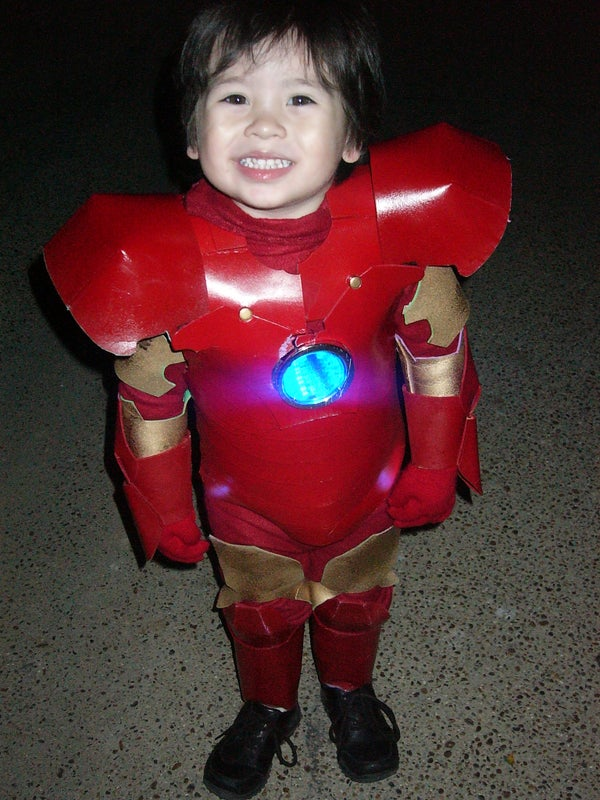My Handmade Version of Iron Man for My Little One So Cute!