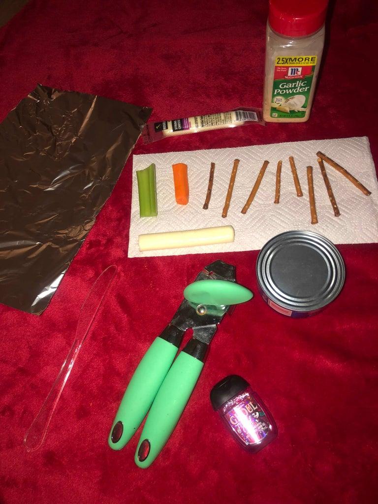 Step 1. Materials/food Items