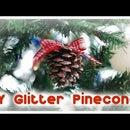 Glitter Pinecone Ornaments (No Glitter Mess)