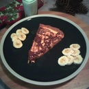 Peanut Butter Cheesecake Pizza with Banana Topping