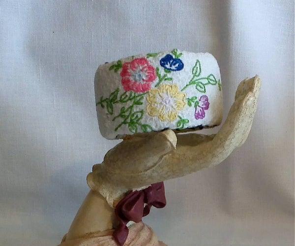 Granny's Embroidered Dresser Scarf Bracelet