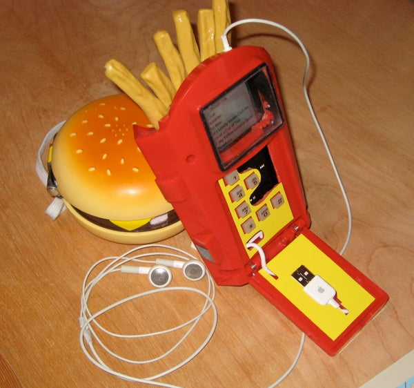 French Fry Phone + Ipod = Fry-pod