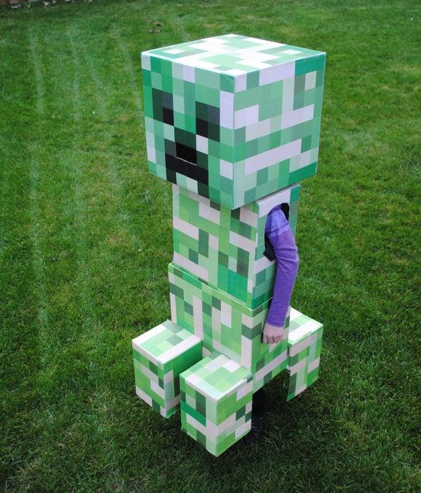 Telescoping Minecraft Creeper Costume
