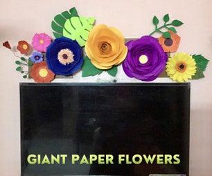 巨型纸花,家居装饰!