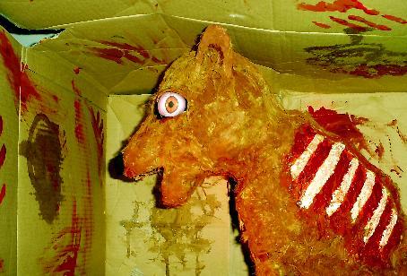 Demon dog Halloween prop