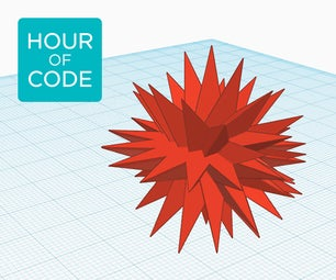 Using Loops in Tinkercad to Design a Bursting Star