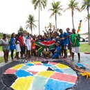 Giant Water Colour Flags | workshop experience
