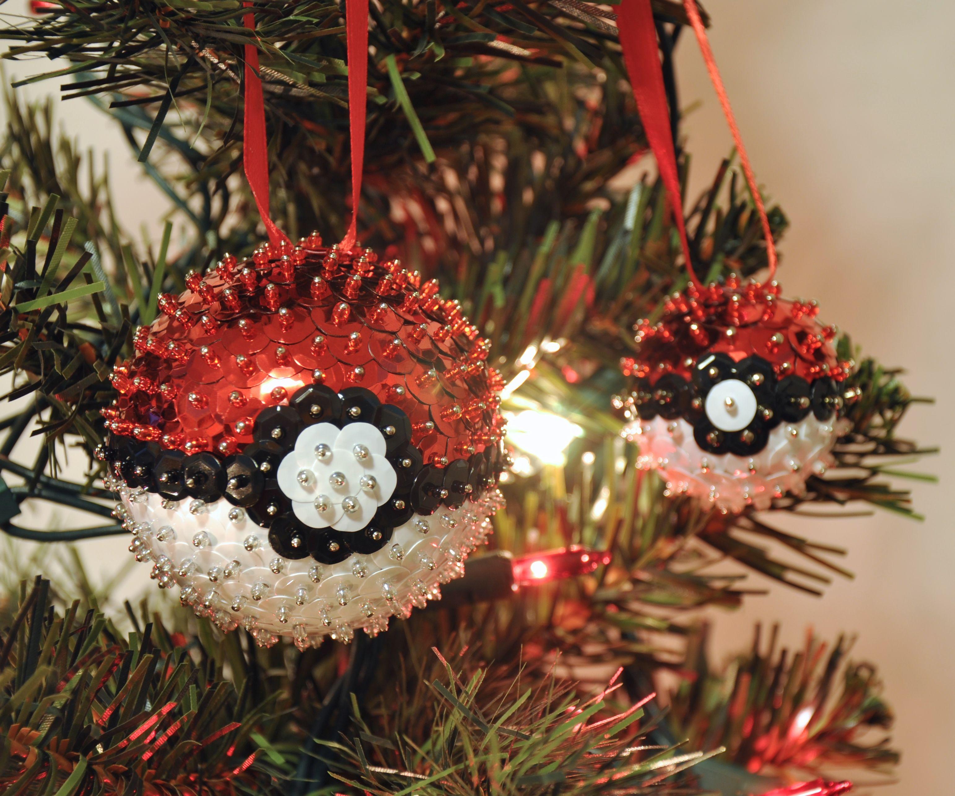 Poké Ball Sequins Ornaments
