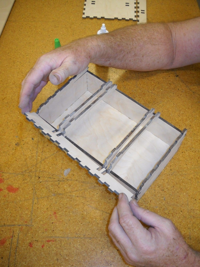 Assemble the Pieces for the Lid of the Box