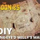 Los Goonies: réplica del mapa de Willy de un ojo