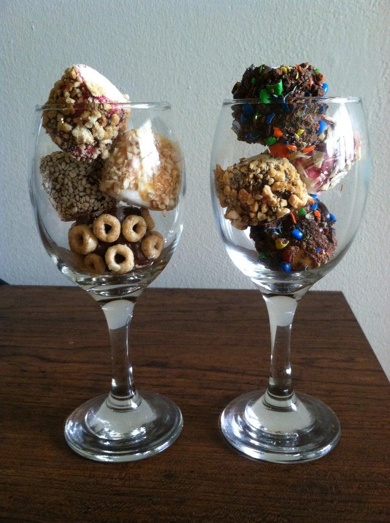 Fruity Nutty Frozen Marshmallows