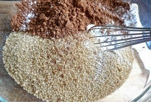 In a Large Bowl, Add All DRY Ingredients Except the Chocolate Chips.