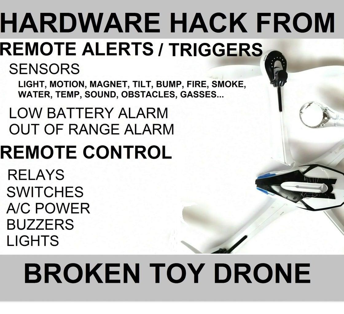 Broken Toy Drone Hardware Hack