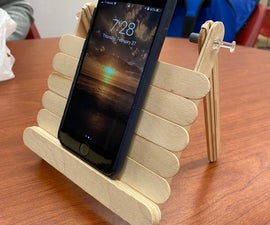 Foldable Popsicle Stick Phone Stand