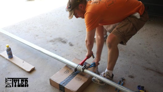 Making the Flag Pole: Eye Bolt, Pulley, Cap and Reducer