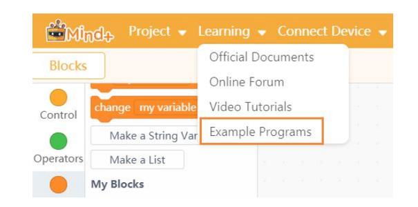 Load Programs Into Mind+.
