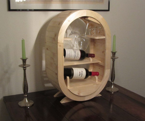 A Barrel-Style Wine Rack - a 2x4 Project