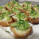 Gorgonzola and Celery snack (for Aperitivo)