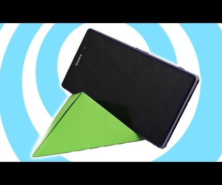 DIY Origami Smartphone Stand