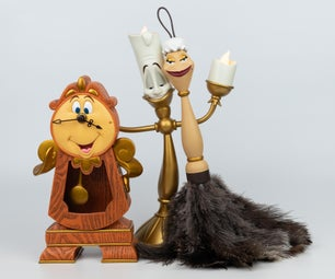 Beauty and the Beast Feather Duster